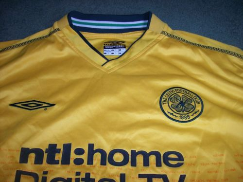 d208ca930 2002 2003 Glasgow Celtic L s Larsson UEFA Cup Away XL Football Shirt
